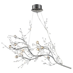 ELK Lighting Ten Light Polished Chrome Up Chandelier