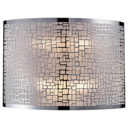ELK Lighting Two Light Polished Stainless Steel Wall Light