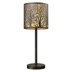 ELK Lighting Woodland Sunrise 1-Light Portable Lamp In Aged Bronze