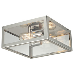 ELK Lighting Two Light Polished Chrome Cage Flush Mount