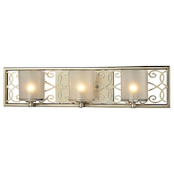 ELK Lighting Santa Monica Collection 3 Light Bath In Aged Silver