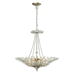 ELK Lighting Viva Collection 6 Light Pendant In Aged Silver