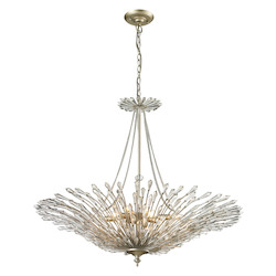 ELK Lighting Viva Collection 8 Light Pendant In Aged Silver