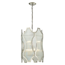 ELK Lighting Benicia Collection 3+3 Light Pendant In Polished Nickel