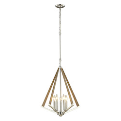 ELK Lighting Madera Collection 5 Light Pendant In Polished Nickel