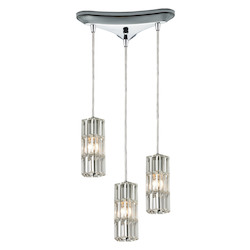 ELK Lighting Cynthia Collection 3 Light Chandelier In Polished Chrome