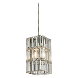 ELK Lighting Cynthia Collection 1 Light Mini Pendant In Polished Chrome