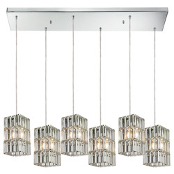 ELK Lighting Cynthia Collection 6 Light Chandelier In Polished Chrome