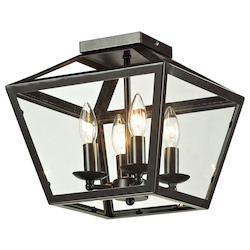 ELK Lighting Alanna Collection 2 Light Flush Mount In Oil Rubbed Bronze