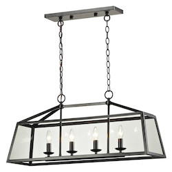 ELK Lighting Alanna Collection 4 Light Pendant In Oil Rubbed Bronze
