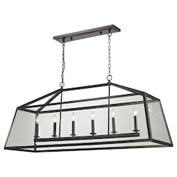 ELK Lighting Alanna Collection 6 Light Pendant In Oil Rubbed Bronze