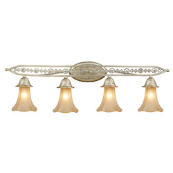 ELK Lighting Four Light Aged Silver Vanity