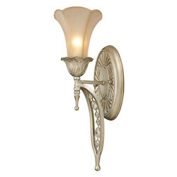 ELK Lighting One Light Aged Silver Bathroom Sconce