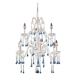 ELK Lighting Nine Light Antique White Up Chandelier