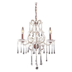 ELK Lighting Three Light Rust Up Chandelier