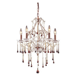ELK Lighting Five Light Rust Up Chandelier
