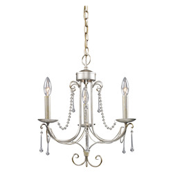 ELK Lighting Three Light Antique Silver Up Chandelier
