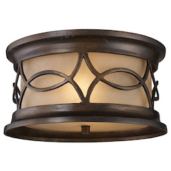 ELK Lighting Two Light Hazelnut Bronze Outdoor Flush Mount