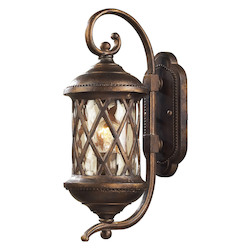 ELK Lighting One Light Hazlenut Bronze Designer Water Glass Wall Lantern