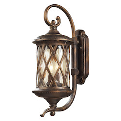 ELK Lighting Two Light Hazlenut Bronze Designer Water Glass Wall Lantern