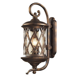 ELK Lighting Three Light Hazlenut Bronze Designer Water Glass Wall Lantern