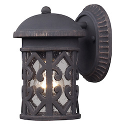 ELK Lighting One Light Weathered Charcoal Wall Lantern