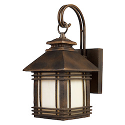 ELK Lighting One Light Hazlenut Bronze Wall Lantern