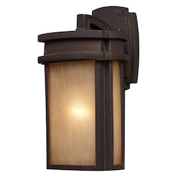 ELK Lighting One Light Clay Bronze Wall Lantern