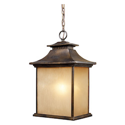 ELK Lighting One Light Hazlenut Bronze Hanging Lantern