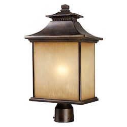 ELK Lighting One Light Hazlenut Bronze Post Light