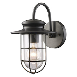 ELK Lighting One Light Matte Black Wall Lantern