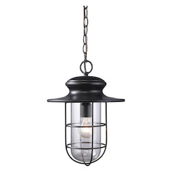 ELK Lighting One Light Matte Black Hanging Lantern