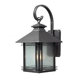 ELK Lighting One Light Graphite Wall Lantern