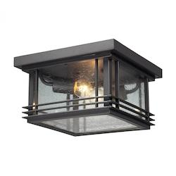 ELK Lighting Two Light Graphite Outdoor Flush Mount