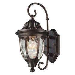 ELK Lighting One Light Regal Bronze Wall Lantern