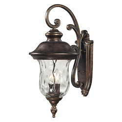 ELK Lighting Three Light Regal Bronze Wall Lantern