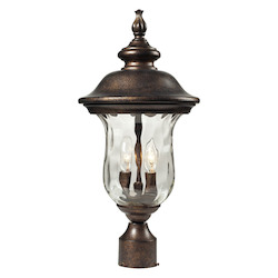 ELK Lighting Two Light Regal Bronze Post Light