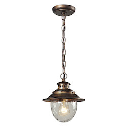 ELK Lighting One Light Regal Bronze Hanging Lantern