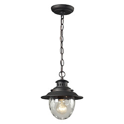 ELK Lighting One Light Weathered Charcoal Hanging Lantern