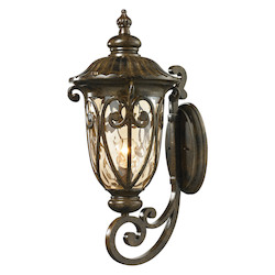 ELK Lighting Logansport Collection 1 Light Outdoor Sconce In Hazelnut Bronze