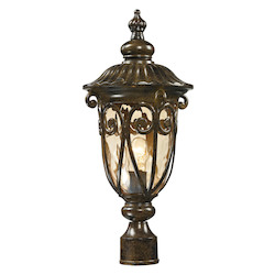 ELK Lighting Logansport Collection 1 Light Outdoor Post Light In Hazelnut Bronze