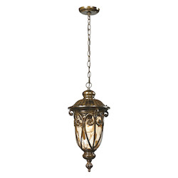 ELK Lighting Logansport Collection 1 Light Outdoor Pendant In Hazelnut Bronze