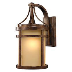ELK Lighting Winona Collection 1 Light Outdoor Sconce In Hazelnut Bronze