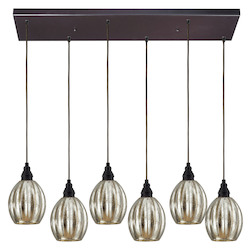 ELK Lighting Six Light Oiled Bronze Multi Light Pendant