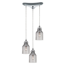 ELK Lighting Danica (Existing) Collection 3 Light Chandelier In Polished Chrome