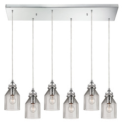 ELK Lighting Danica (Existing) Collection 6 Light Chandelier In Polished Chrome