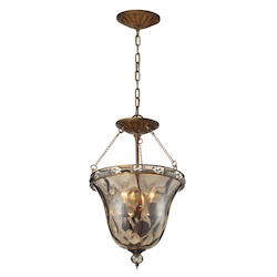 ELK Lighting Three Light Mocha Bowl Semi-Flush Mount