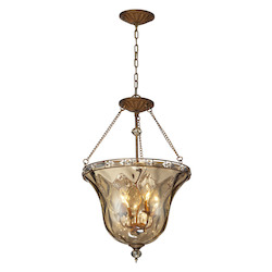 ELK Lighting Four Light Mocha Up Pendant