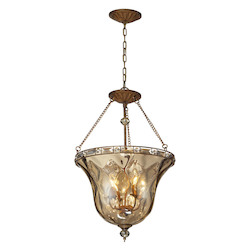 ELK Lighting Four Light Mocha Bowl Semi-Flush Mount