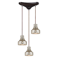 ELK Lighting Danica (Existing) Collection 3 Light Chandelier In Oil Rubbed Bronze